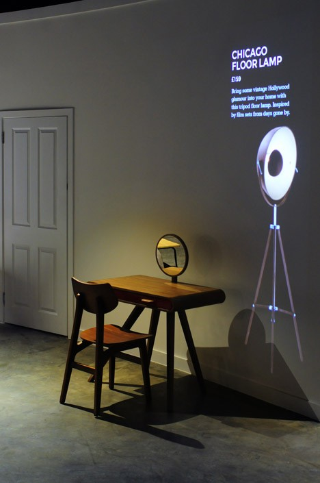 projected lamp example object
