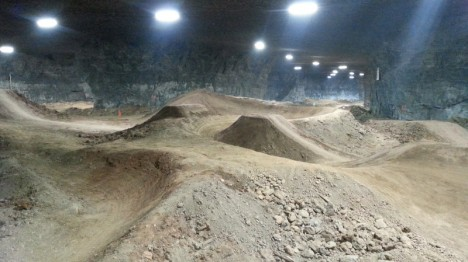 reclaimed mine bike park