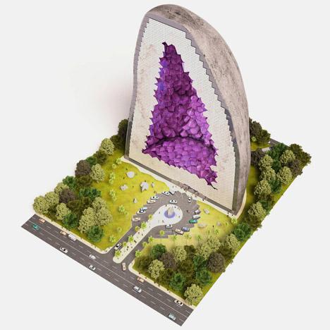 rock building site model