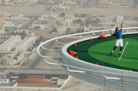 rooftop tennis court dubai 2