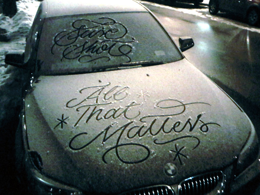 snow calligrapher signature work