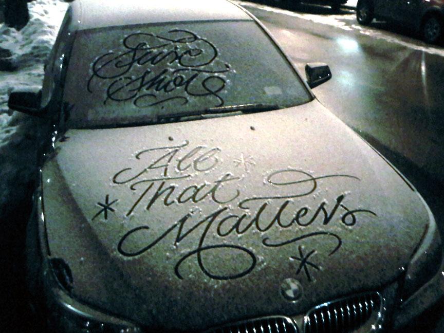 snow calligrapher signature work