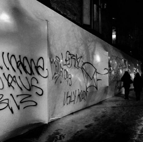 storefront graffiti art vandalism