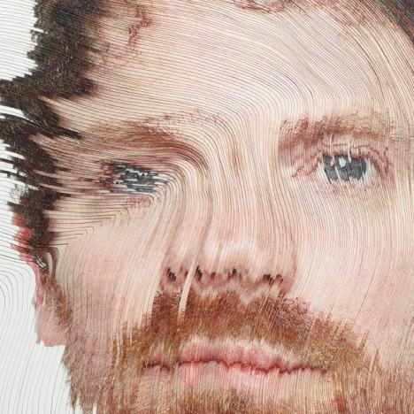 time lapse paper portraits