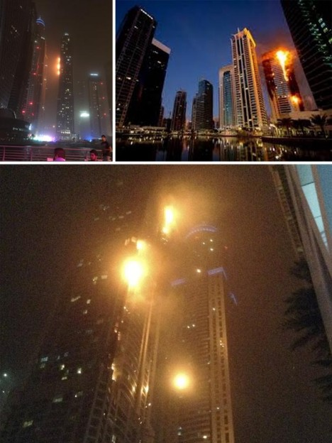 torch building fire dubai