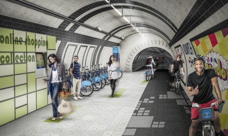 under line subterranean path