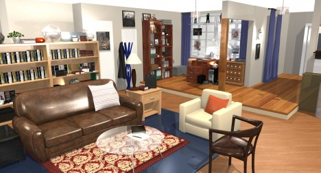 3d home model big bang theory