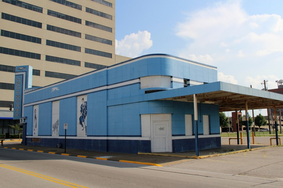 abandoned bus station terminal Evansville 2
