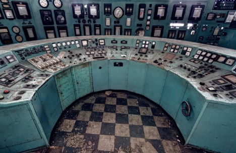 abandoned nuclear control desk