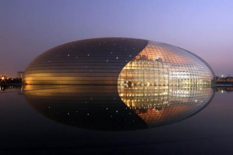 bird architecture egg building china 2