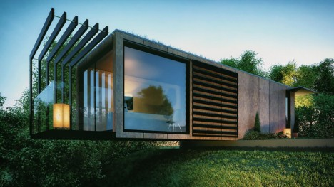 cargo container office design