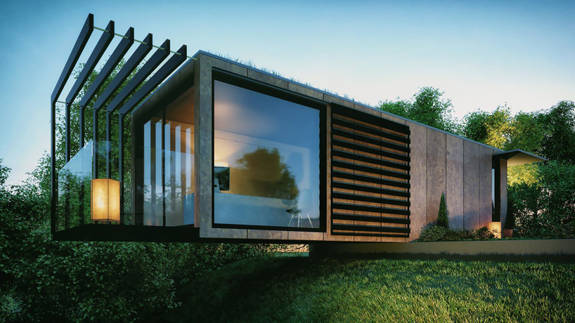 Cantilevered Conversion Sleek Modern Cargo Container