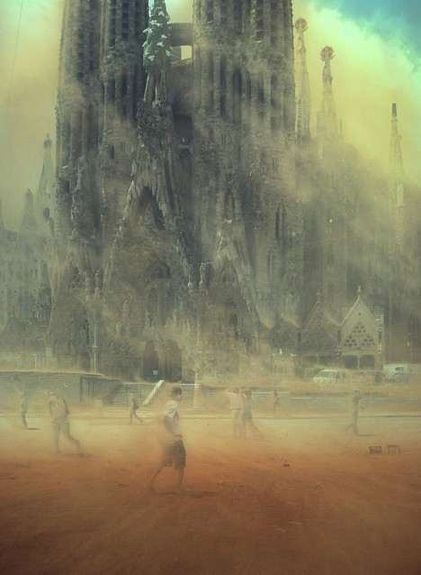 dust storm in barcelona
