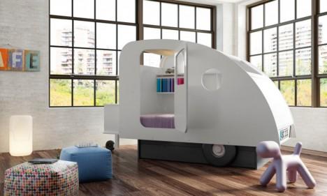 kids furniture caravan bed