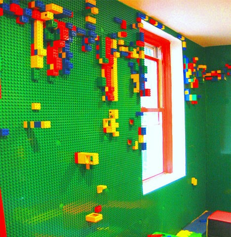 kids furniture lego playroom wall