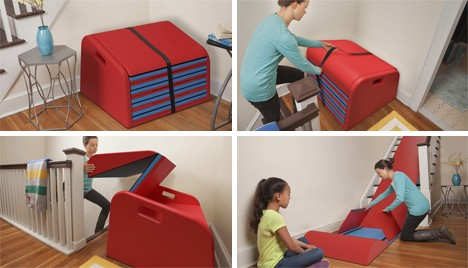 kids furniture staircase slide 2