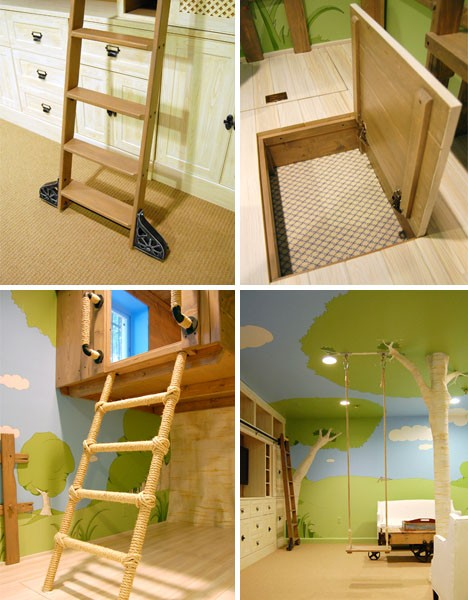 kids furniture treehouse bedroom 2