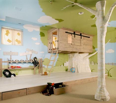 kids furniture treehouse bedroom