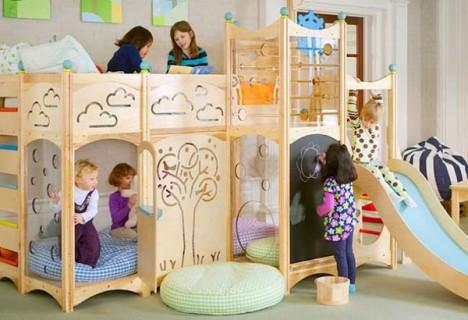 Imaginative Wooden Kids Beds With Slides