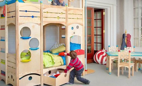 kids furniture wooden beds 2