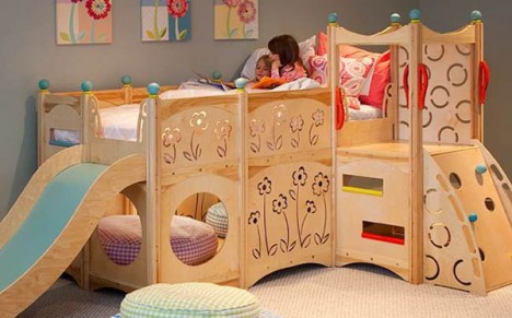 kids furniture wooden beds 3