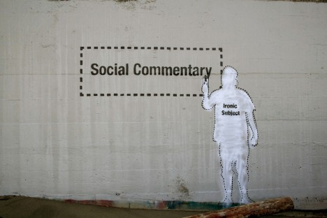 social commentary ironic subject