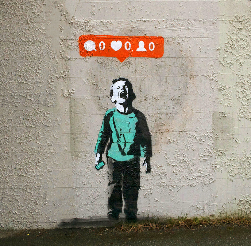 Social Media + Street Graffiti = Stenciled Signs of Our Times