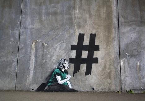social media hashtag reality