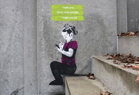 social media text graffiti
