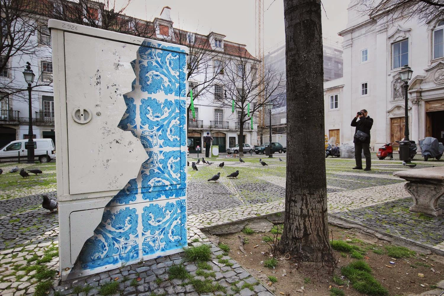 The beauty beneath ceramic tile illusion on electric box urbanist dailygadgetfo Image collections