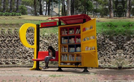traveling libraries bus station
