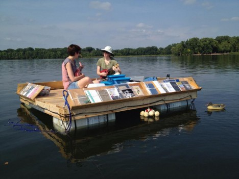 traveling libraries floating