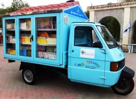 traveling libraries handmade