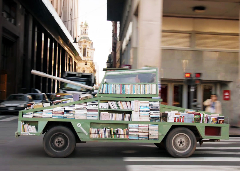 traveling library tank