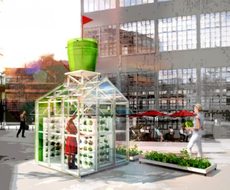 urban farming harvesting station