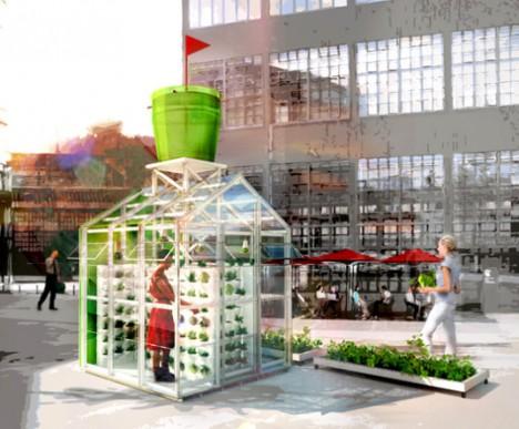 urban farming harvesting station
