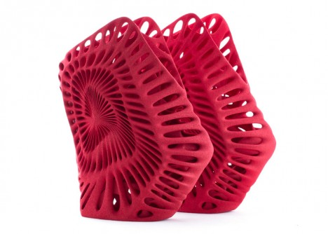 3d red spiral shoe