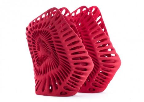 3d red spiral shoe