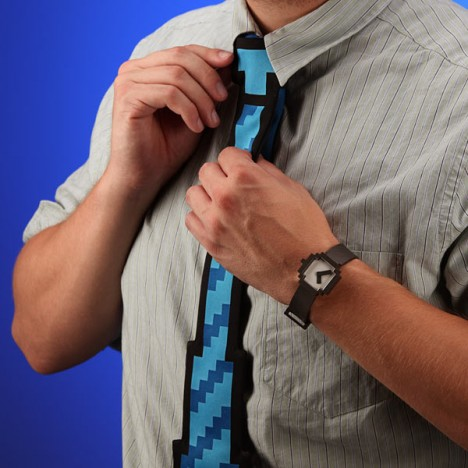 8-bit watch and tie