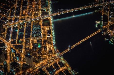 aerial nyc bridges