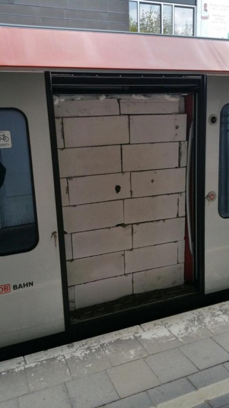 bricked subway car line