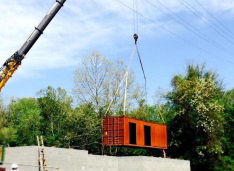cargo container assembly process