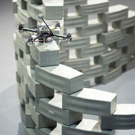drone building block wall