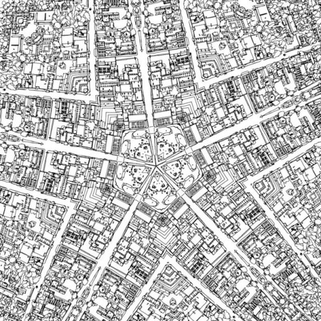 fantastic cities black white
