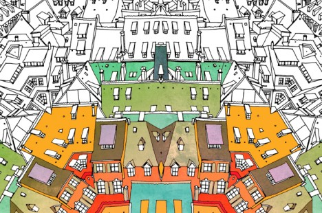 Fantastic Cities 48 Page Urban Coloring Book Made For