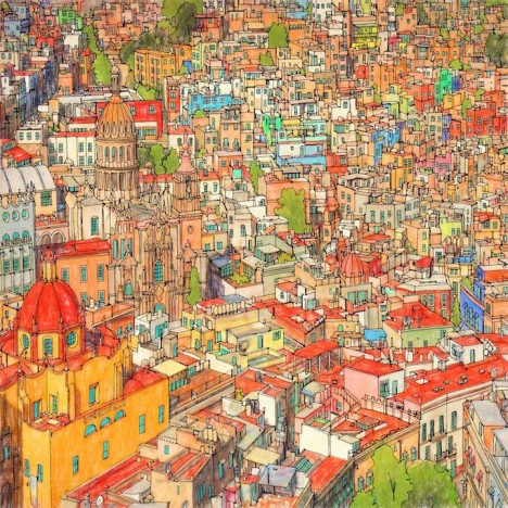 Fantastic Filled In Color This Book Steve Selected Scenes From Major Cities