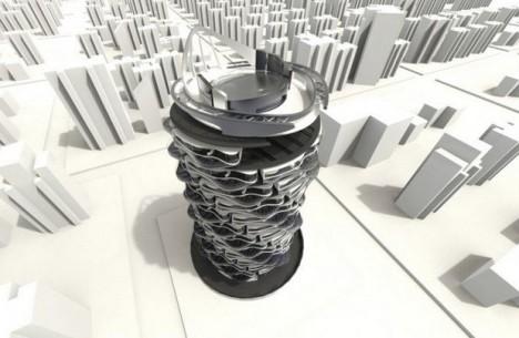 future spinning skyscraper condo