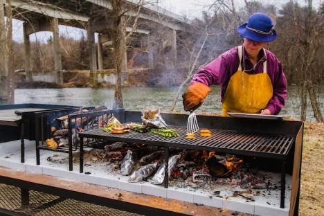 grilling riverfront