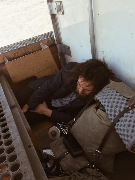 hobo sleeping rail car