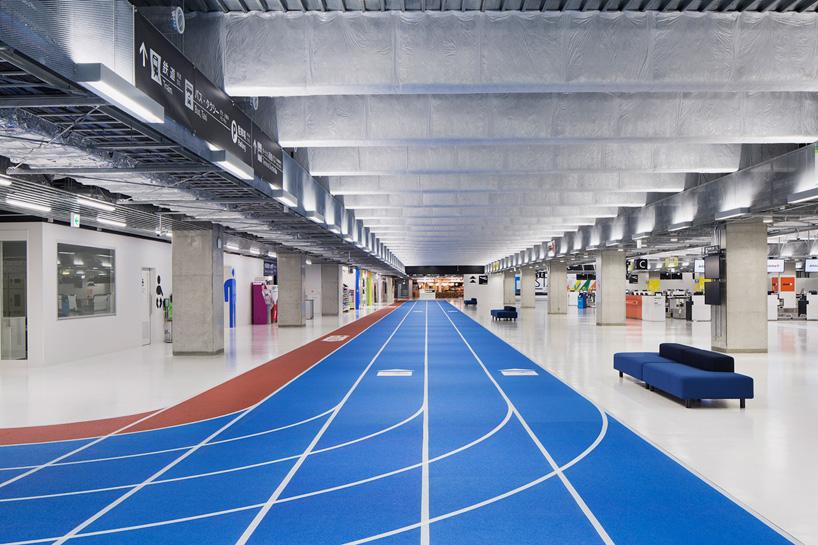 japanese airport terminal tracks